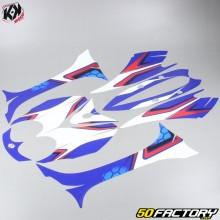 Dekor Kit Kutvek Race MBK Ovetto  et  Yamaha Neo's (von 2008) blau