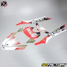 Kit Déco Kutvek Yasuni MBK Booster et Yamaha BW's (depuis 2004) rouge et noir