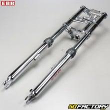 Complete fork chrome-plated standard Ø 28mm Peugeot  103 EBR