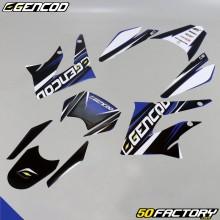 Kit de decoração Gencod Derbi DRD, Gilera SMT,  RCR (2011 para 2017) azul