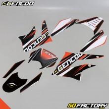 Kit déco Gencod Derbi DRD, Gilera SMT, RCR (2011 à 2017) orange