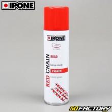Bombe graisse de chaîne rouge Ipone 250 ml