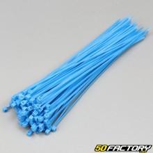 Fluoreszierende blaue Kunststoffhalsbänder 200mm (100-Teile)