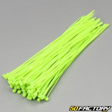Fluoreszierende grüne Kunststoffhalsbänder 200mm (100-Teile)