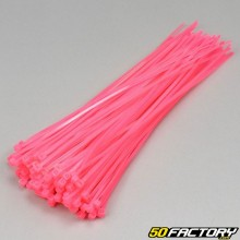 Fluorescent Pink Plastic Clamps 200mm (100 Parts)