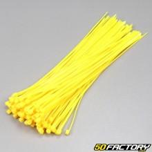 Fluoreszierende gelbe Kunststoffmanschetten 200mm (100-Teile)