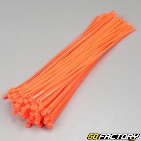 Fluoreszierende orangefarbene Kunststoffmanschetten 250mm (100 Parts)