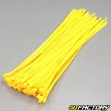 Fluoreszierende gelbe Kunststoffmanschetten 250mm (100-Teile)