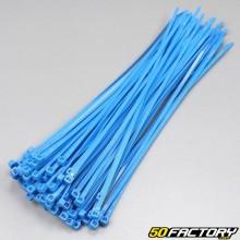 Blaue Kunststoffhalsbänder 250mm (100-Teile)