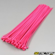 Fluorescent Pink Plastic Clamps 250mm (100 Parts)