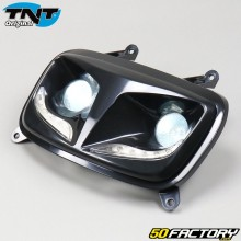 Black dual optical headlight with MBK leds Booster,  Yamaha Bw's (from 2004) TNT
