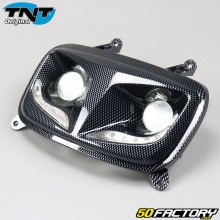 Dual optical carbon headlamp with MBK leds Booster,  Yamaha Bw's (from 2004) TNT