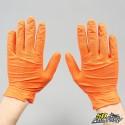 Guantes de nitrilo agarre mecánico naranja talla M (pares x25)