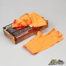 Gants nitriles grip mécanicien orange taille XL (x25 paires)