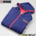 Kapuzen-Sweatshirt Ipone 100% Motorrad blau Größe S