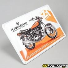 Plaque émaillée Kawasaki Motorcycle 20x30cm