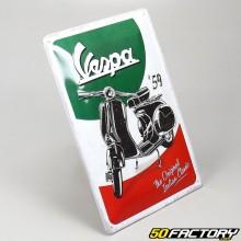 Plaque émaillée Vespa classic 20x30cm