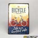 Plaque émaillée Bicycle 20x30cm