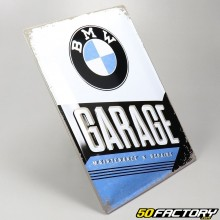 Plaque émaillée BMW garage 30x40cm