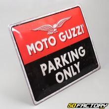 Plaque émaillée Moto Guzzi 30x40cm