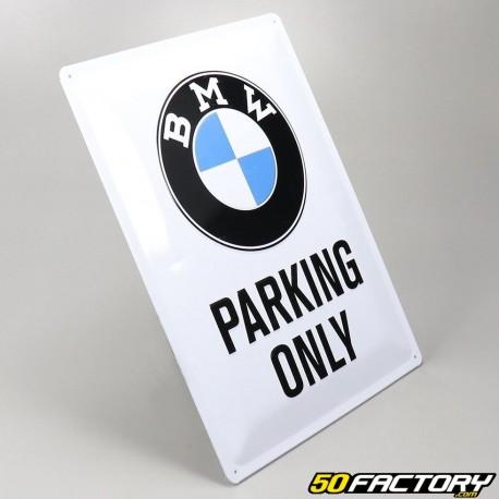 Plaque émaillée BMW Parking 30x40cm