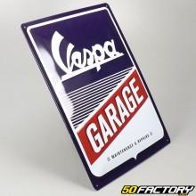 Plaque émaillée Vespa garage 30x40cm