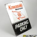 Plaque émaillée Kawasaki parking 30x40cm