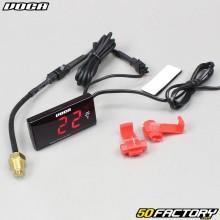 Termómetro Voca Racing 0-120 ° C LED rojo universal