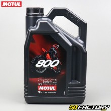 2T Motor Oil Motul 800 Factory Line Off Road 100% sintetico Ester Core 4L