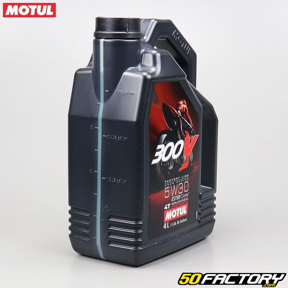 Huile moteur 4T 5W30 Motul 300V Factory Line 100 % synthetic Ester Core 4L  ... 41e8ab4d3544