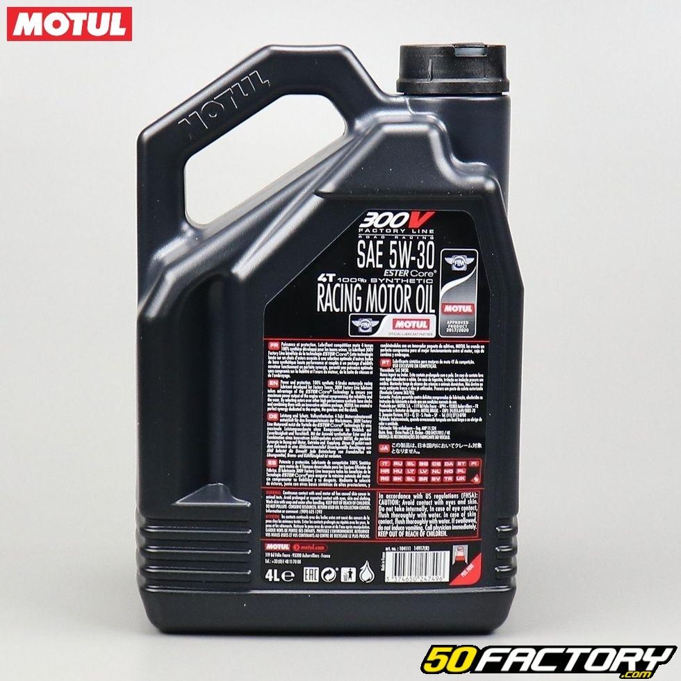 ... Huile moteur 4T 5W30 Motul 300V Factory Line 100 % synthetic Ester Core  4L ... 392394cf124f