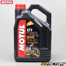 Huile moteur 4T 5W40 Motul ATV Power 100% synthèse 4L