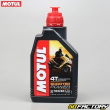 Motor Aceite 4T 10W30 MB Motul Scooter Power 100% de síntesis 1L
