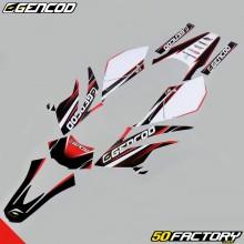 Kit di decorazione Gencod Beta RR 50, motociclista, Track (2004 a 2010) rosso