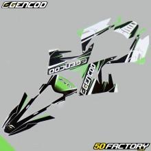 Decoration kit Gencod Derbi Senda,  Gilera SMT,  RCR (since 2018) green
