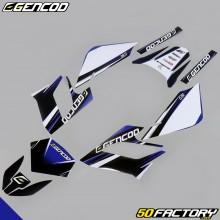 Kit de decoracion Gencod Derbi Senda DRD Racing (2004 a 2010) azul