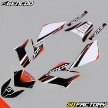 Kit de decoracion Gencod Derbi Senda DRD Racing (2004 a 2010) naranja