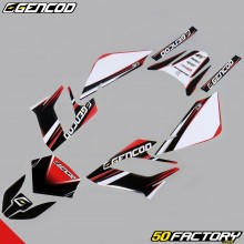 Kit de decoracion Gencod Derbi Senda DRD Racing (2004 a 2010) rojo