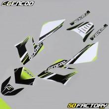 Kit de decoracion Gencod Derbi Senda DRD Racing (2004 a 2010) verde neón