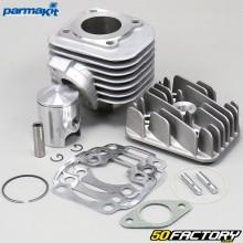 Cilindro de pistón Minarelli horizontal aluminio aire Mbk Ovetto,  Yamaha Neo's ... 50 2T Parmakit