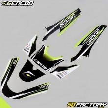 Kit déco Gencod MBK Booster et Yamaha BW's (depuis 2004) vert fluo