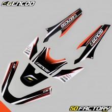Kit Déco Gencod MBK Booster et Yamaha BW's (depuis 2004) orange