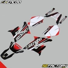Decoration kit Gencod Yamaha DT50 and MBK X-Limit (from 2003) red