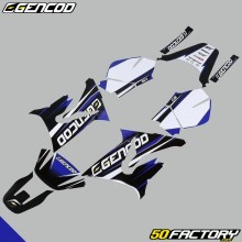 Decoration kit Gencod Yamaha DT50 and MBK X-Limit (from 2003) blue