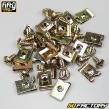 Tornillos y grapas para carenado 4mm (paquete 20) Fifty