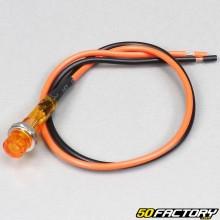 Mini voyant orange adaptable 12V 8mm