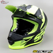 Casco cross Shot Furious Ultimate neon giallo taglia S