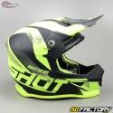 Helmet cross Shot Furious Ultimate neon yellow size M