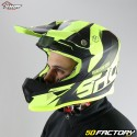 Casque cross Shot Furious Ultimate jaune fluo taille M