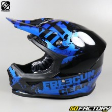 Helmet cross Freegun XP4 Fog blue